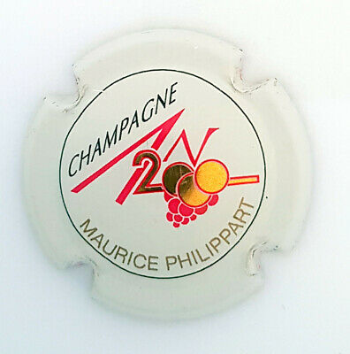 CAPSULE CHAMPAGNE AN 2000 Maurice PHILIPPART Sur 613 - ECRITURE OR - INTROUVABLE • 50€